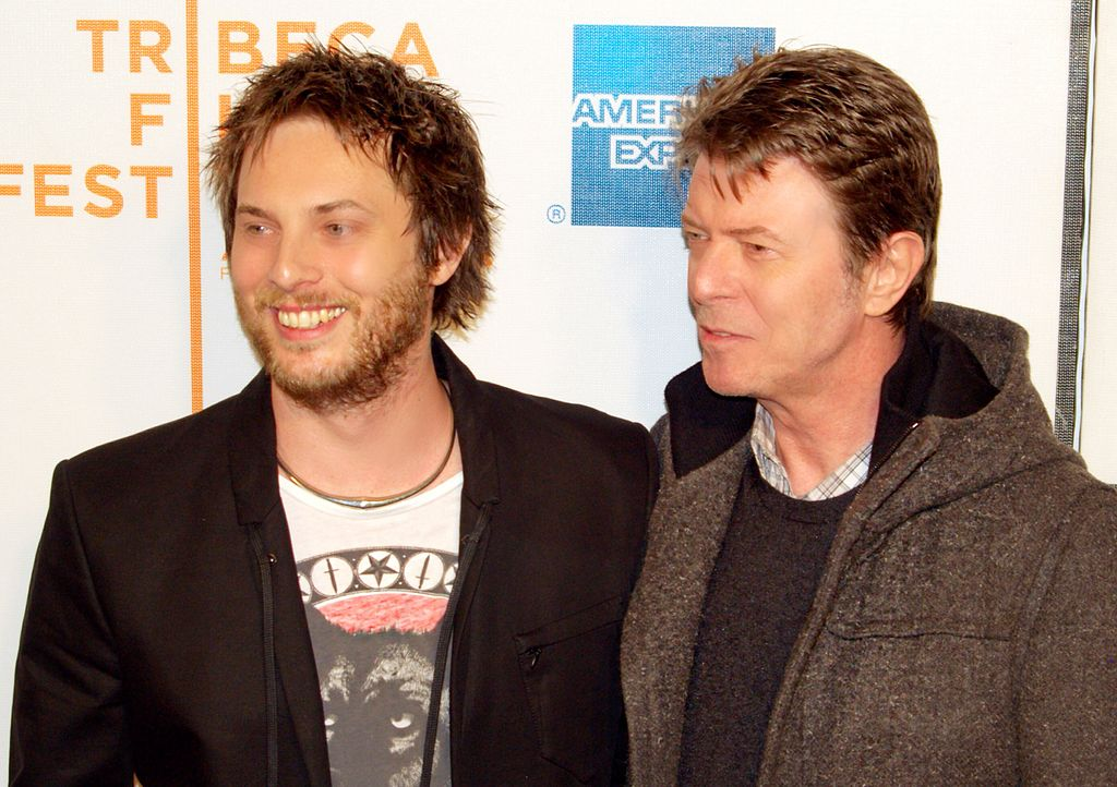 Dunan Jones and David Bowie at the premiere of Moon c: David Shankbone
