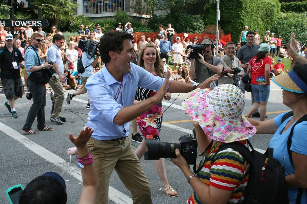 Trudeau marching in the Vancouver Pride Festival wikimedia